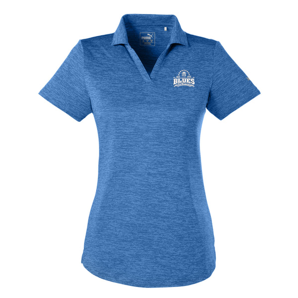 Blues Seal Puma Icon Heather Golf Polo (Women) - Lapis