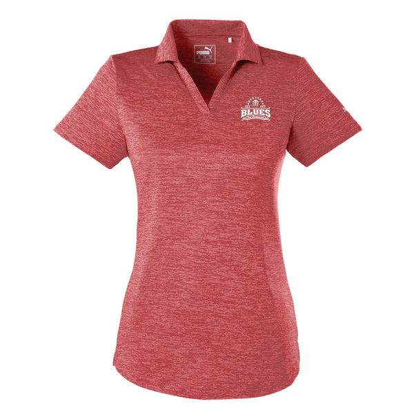 Blues Seal Puma Icon Heather Golf Polo (Women) - Red