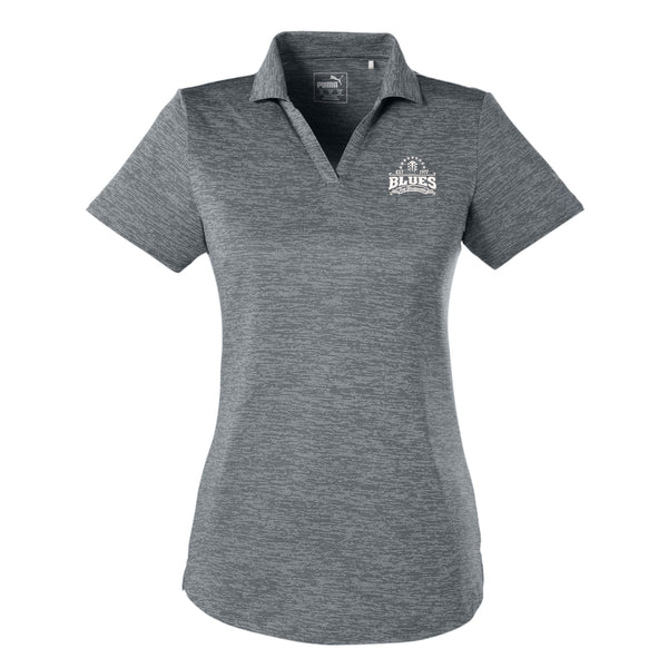 Blues Seal Puma Icon Heather Golf Polo (Women) - Shade