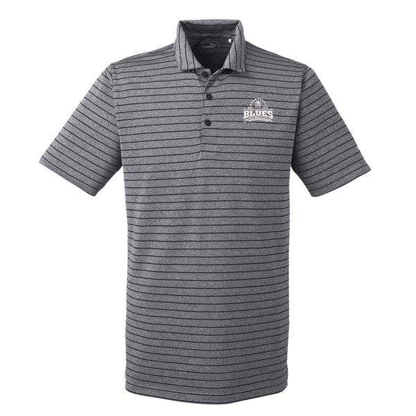 Blues Seal Puma Golf Rotation Stripe Polo  (Men) - Black