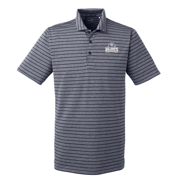 Blues Seal Puma Golf Rotation Stripe Polo  (Men) - Peacoat