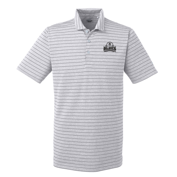 Blues Seal Puma Golf Rotation Stripe Polo  (Men) - Quarry