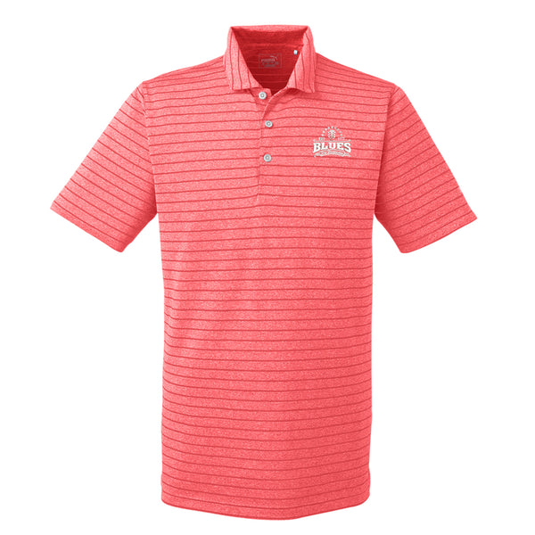 Blues Seal Puma Golf Rotation Stripe Polo  (Men) - Red