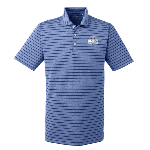 Blues Seal Puma Golf Rotation Stripe Polo  (Men) - Surf