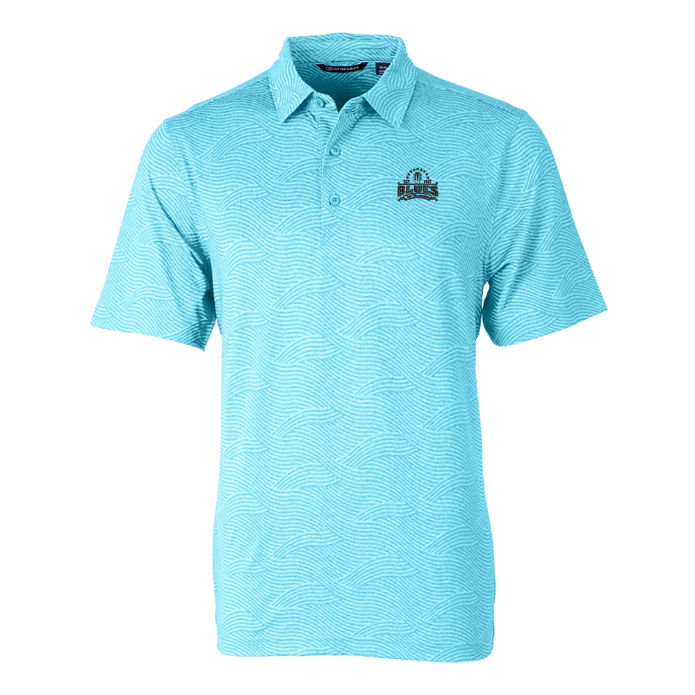 Blues Seal Cutter & Buck Wave Polo (Men) - Submerge
