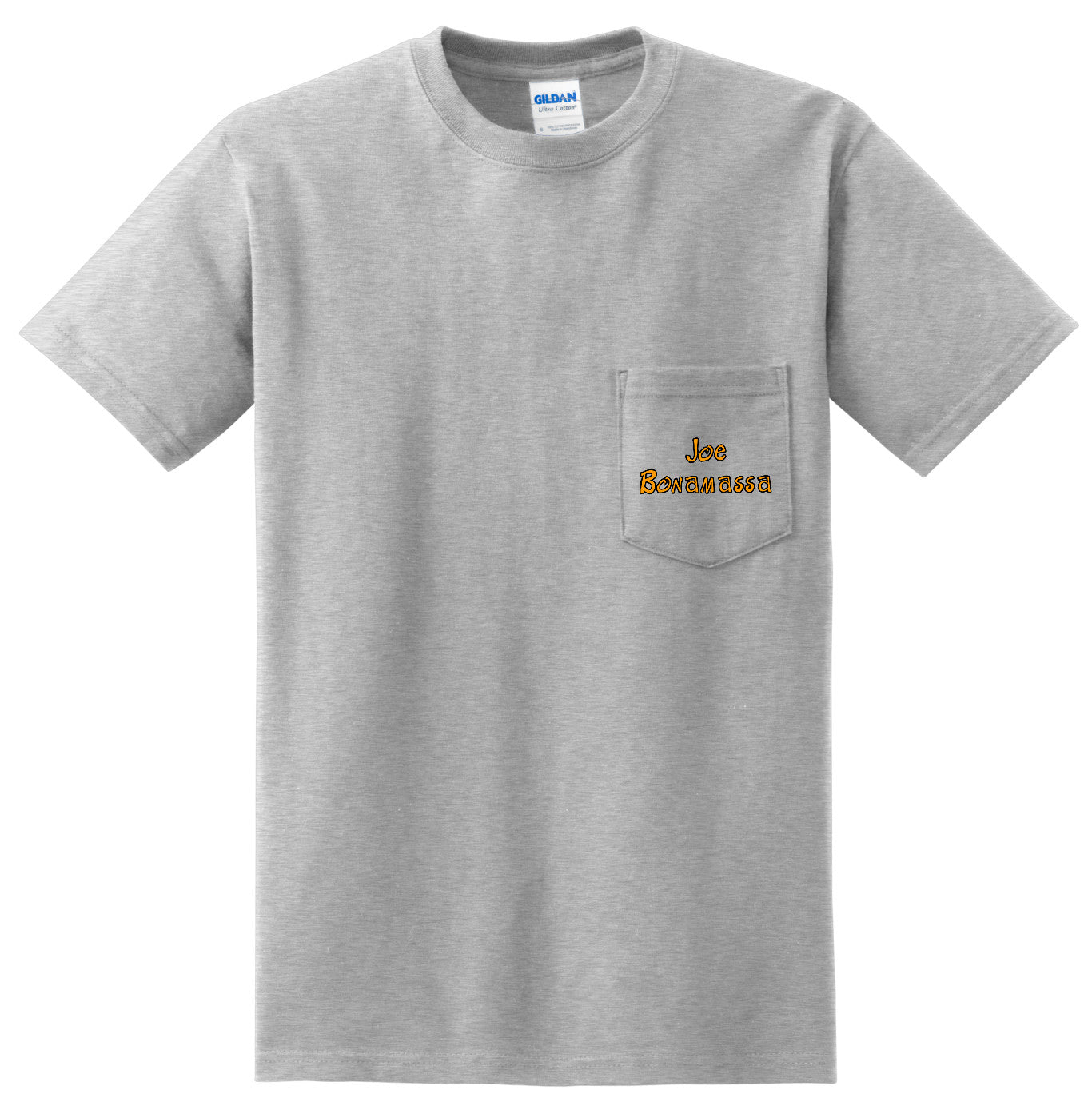 Blues to the Bone Pocket T-Shirt (Unisex) - Ash