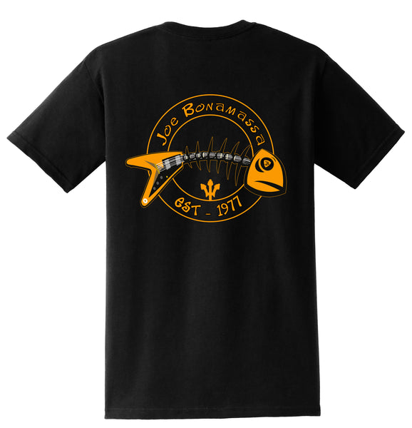 Blues to the Bone Pocket T-Shirt (Unisex) - Black