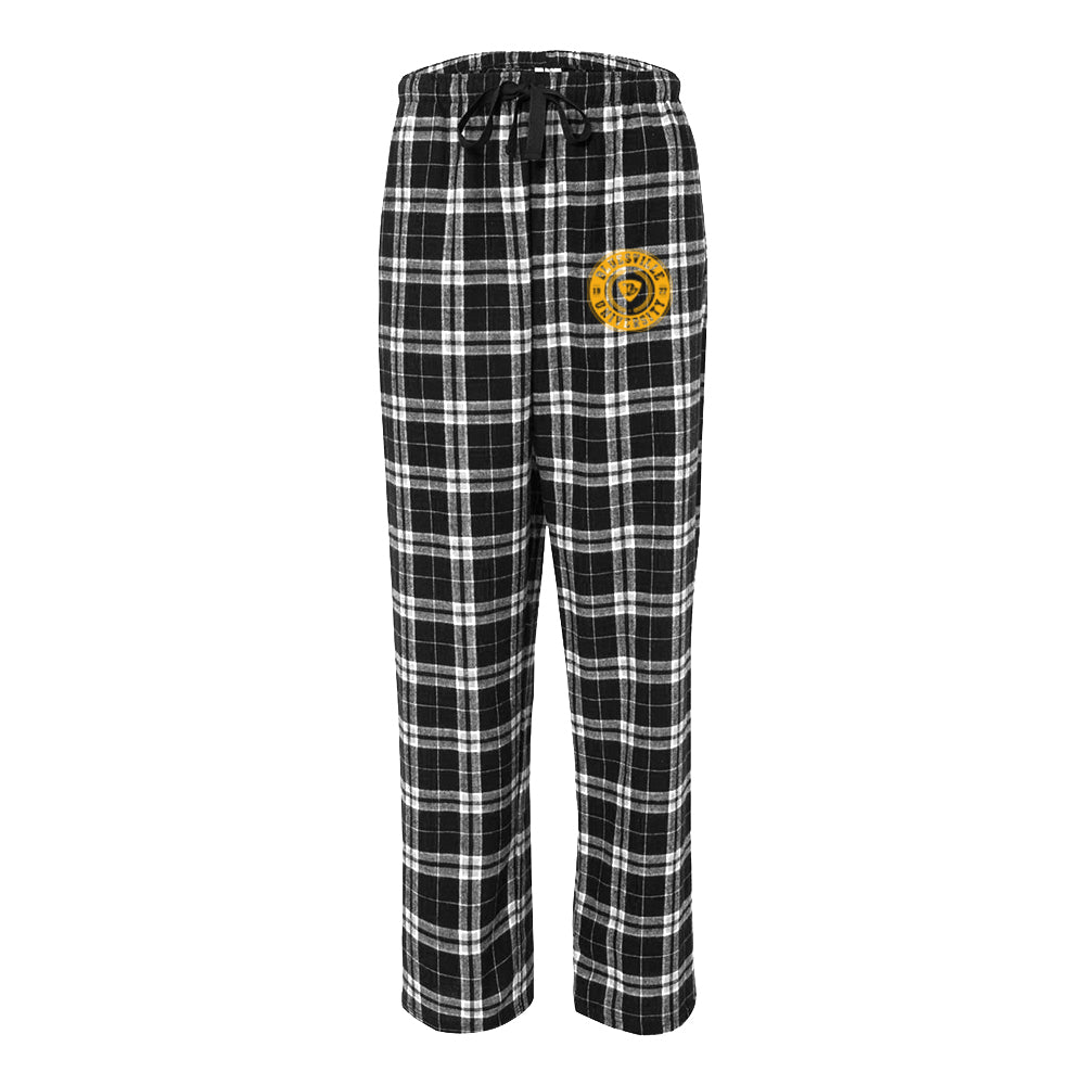 Bluesville University Flannel Pants w/Pockets (Unisex) - Black/Grey