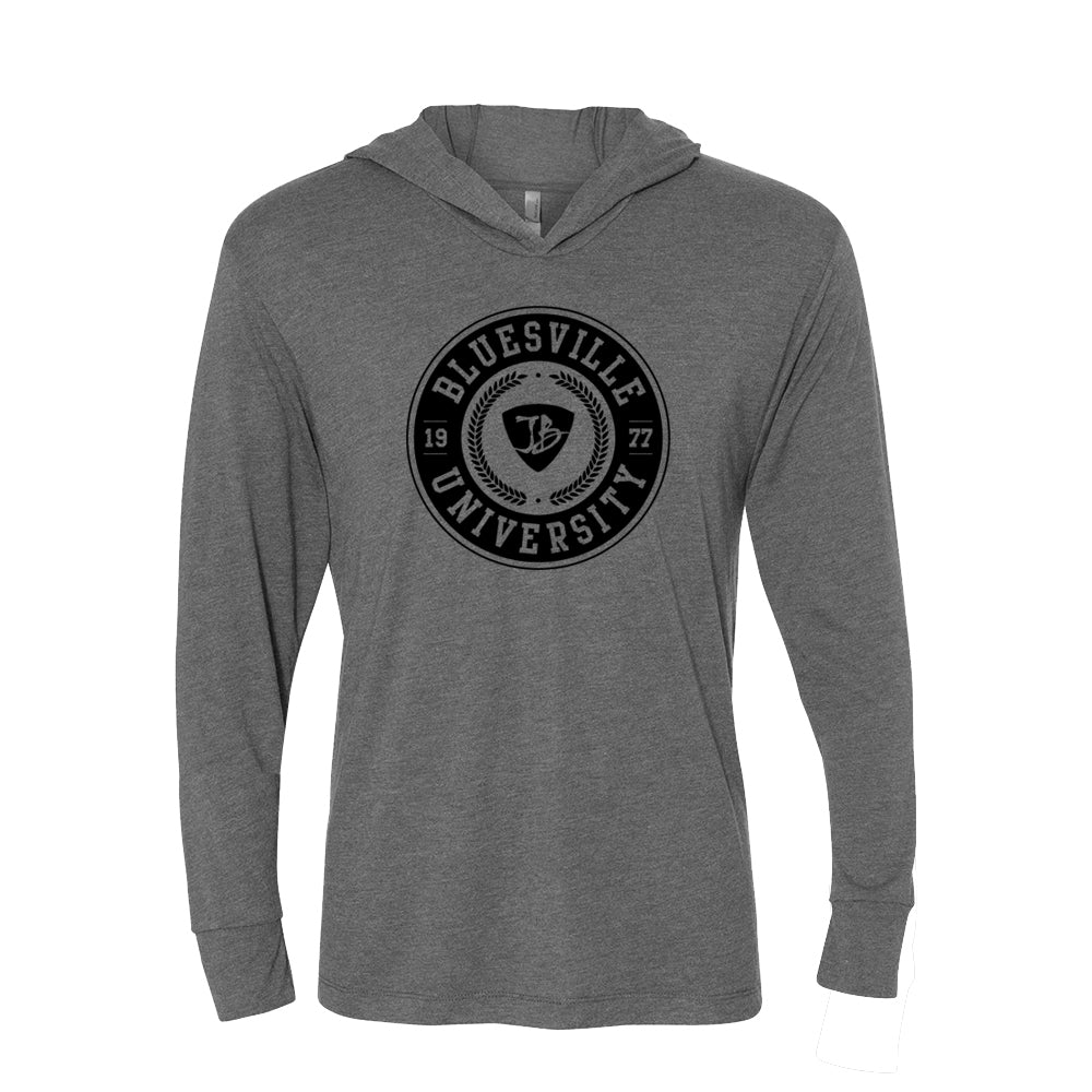 Bluesville University Long Sleeve & Hoodie (Unisex) - Premium Heather Grey