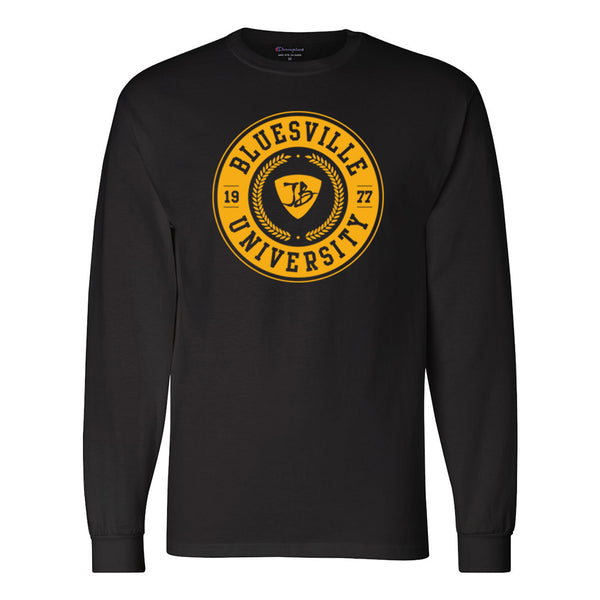 Bluesville University Champion Long Sleeve (Men) - Black