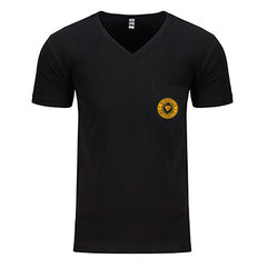Bluesville University V-Neck Pocket T-Shirt (Men) - Black