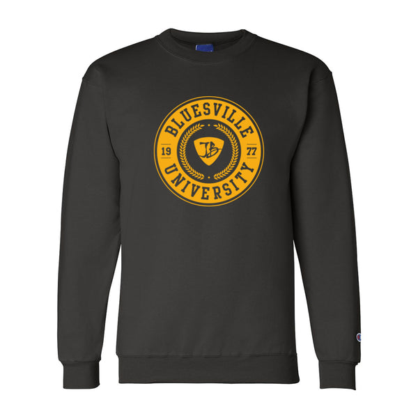 Bluesville University Champion Sweatshirt (Men) - Black