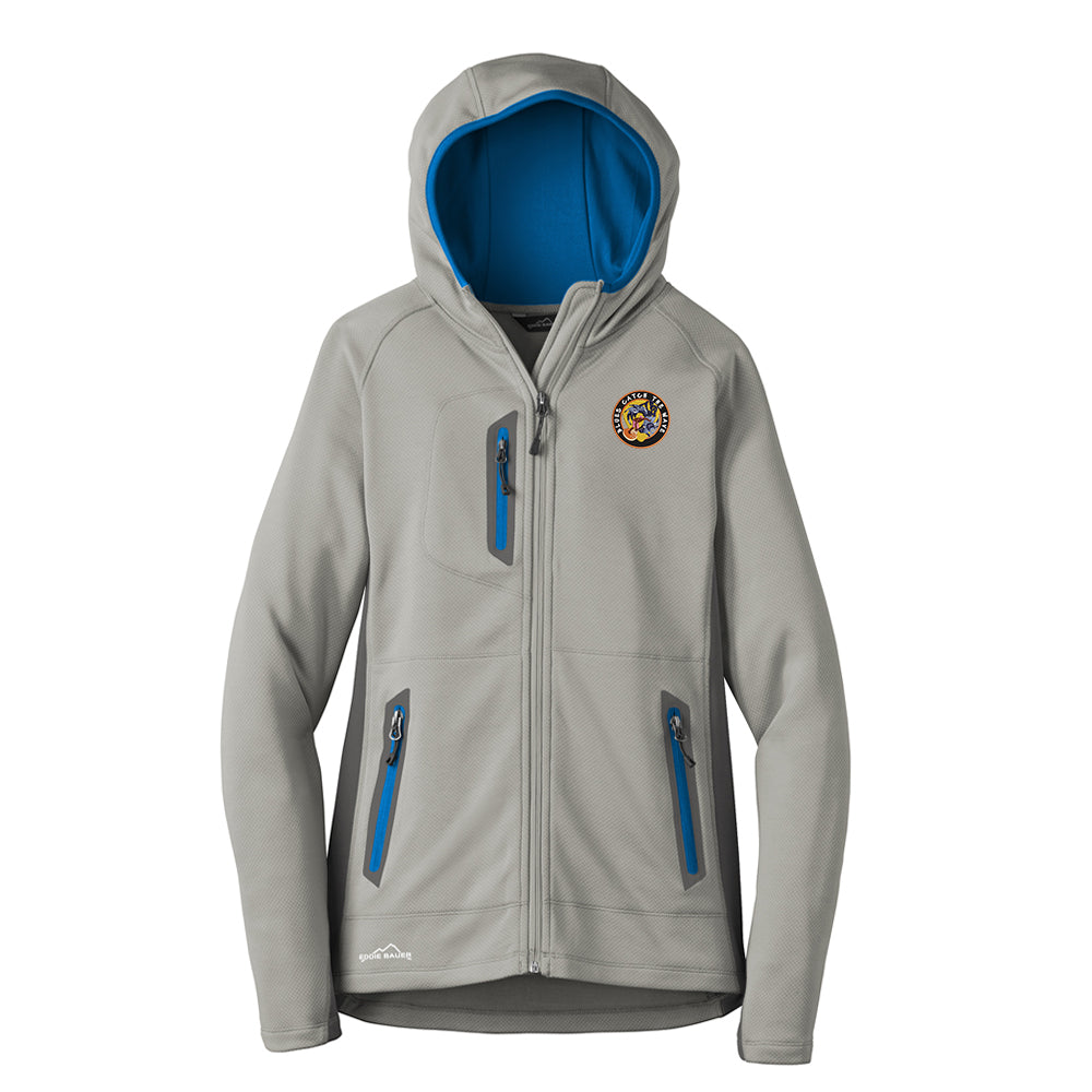 Blues Surfer Eddie Bauer Sport Hooded Full-Zip Fleece Jacket (Women) - Blue