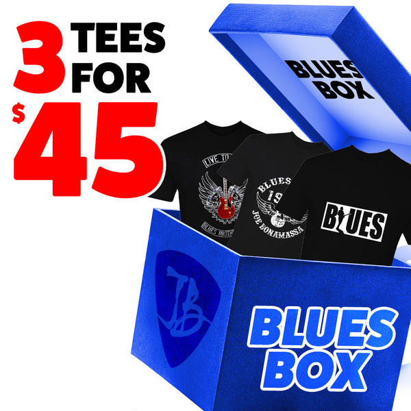 Blues Box - 3 T-Shirts for $45