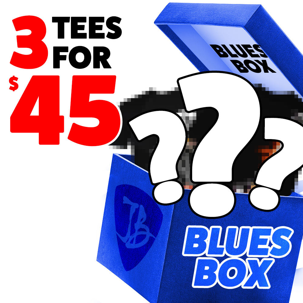 Blues Box - 3 T-Shirts for $45 - Mystery
