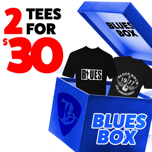 Blues Box - 2 T-Shirts for $30
