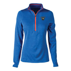 Bluesville Route Reebok Circuit 1/4 Zip-Up (Women) - Royal