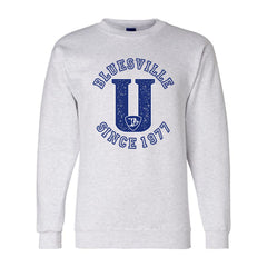 "Bluesville ""U"" Logo Champion Sweatshirt (Men) - Silver Grey"