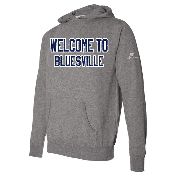 Welcome to Bluesville Applique Pullover Hoodie - Royal/Heather (Unisex)