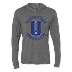 "Bluesville ""U"" Logo Long Sleeve & Hoodie (Unisex) - Premium Heather Grey"