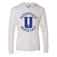 "Bluesville ""U"" Logo Long Sleeve & Hoodie (Unisex) - Heather White"