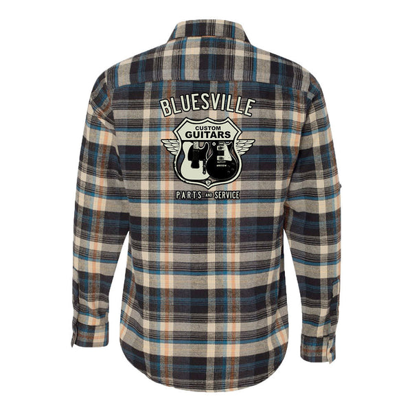Bluesville Route Flannel Long Sleeve (Men) - Dark Khaki