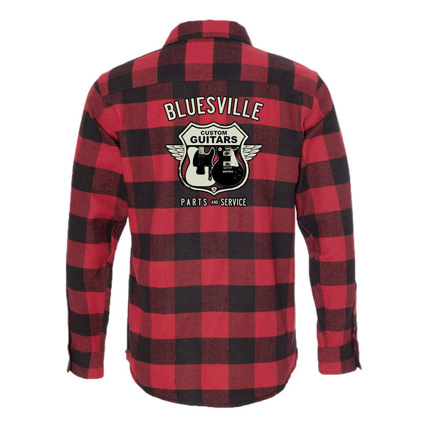 Bluesville Route Flannel Long Sleeve (Men) - Red