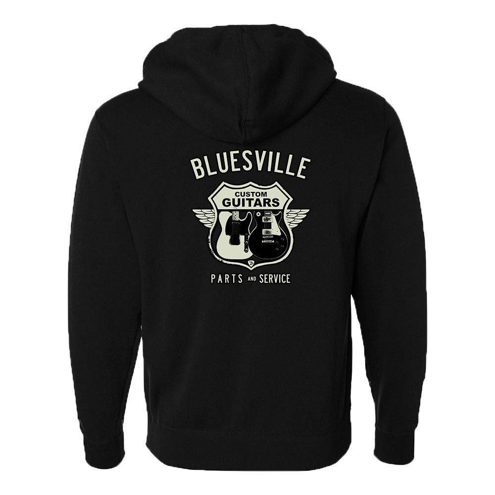 Bluesville Route Zip-Up Hoodie (Unisex)
