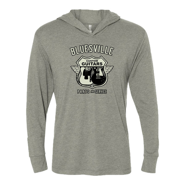 Bluesville Route Long Sleeve & Hoodie (Unisex) - Premium Heather Grey
