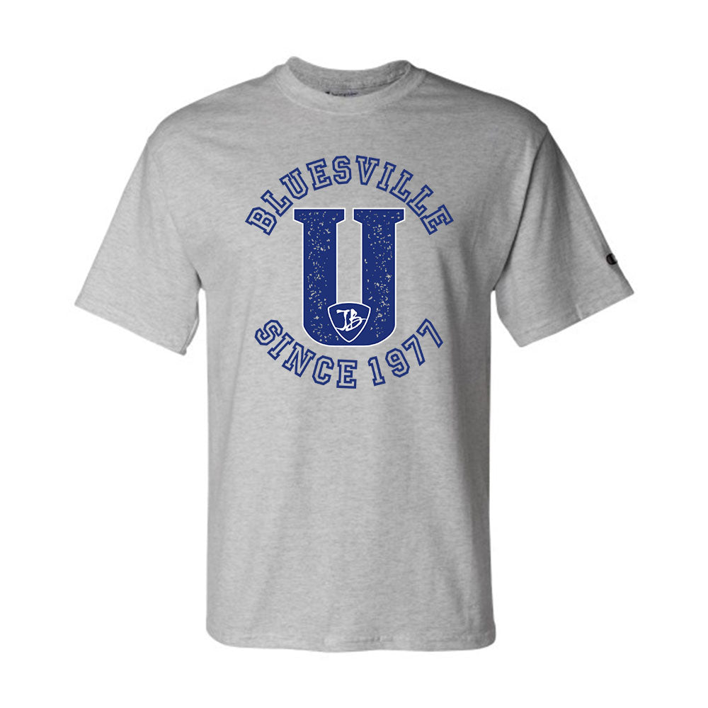 "Bluesville ""U"" Logo Champion T-Shirt (Men) - Light Steel"
