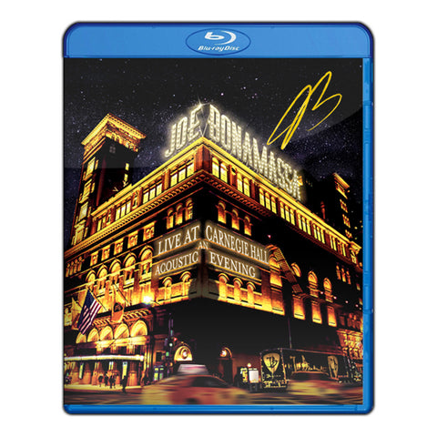 Joe Bonamassa: Live at Carnegie Hall - An Acoustic Evening (Blu-ray) (Released: 2017) - Hand-Signed ***PRE-ORDER***
