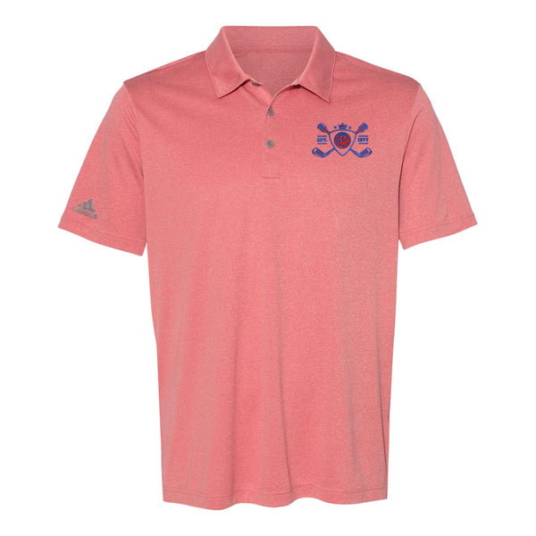 Blues Bogey Adidas Sport Polo (Men) - Red Heather