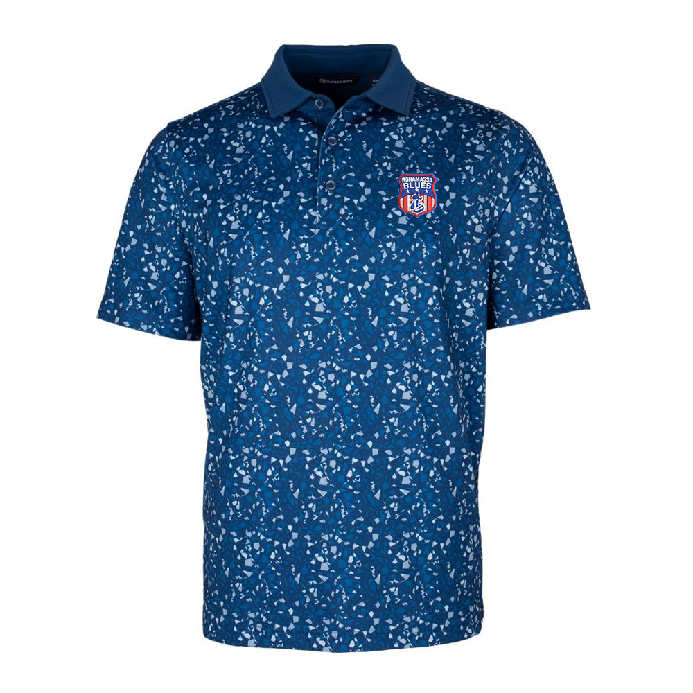 Bonamassa Blues Cutter & Buck Particle Polo (Men) - Indigo