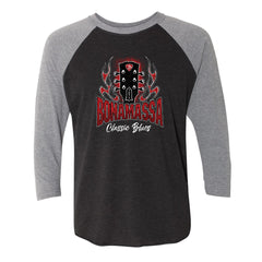 Bonamassa Classic Blues 3/4 Sleeve T-Shirt (Unisex) - Heather Grey/ Black