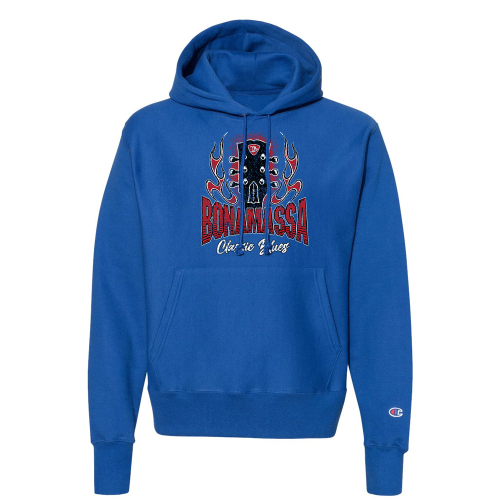 Bonamassa Classic Blues Champion Hooded Pullover (Unisex) - Royal
