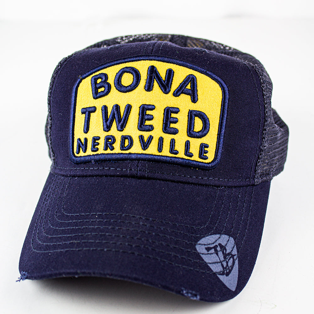 Bona Tweed Nerdville Hat (Navy) - Bonamassa Custom Shop