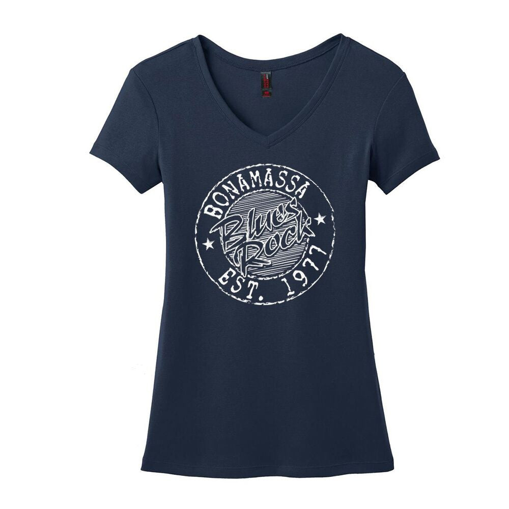 Classic Blues Rock V-Neck (Women) - Navy