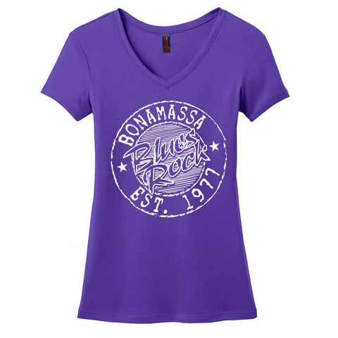 Classic Blues Rock V-Neck (Women) - Purple