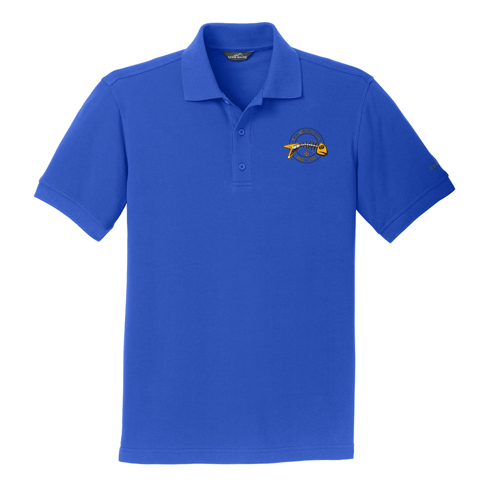 Blues to the Bone Eddie Bauer Pique Polo (Men) - Blue