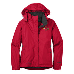Blues to the Bone Eddie Bauer Rain Jacket (Women) - Red