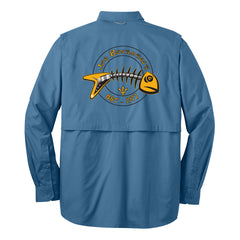 Blues to the Bone Eddie Bauer Long Sleeve Fishing Shirt (Men) - Blue