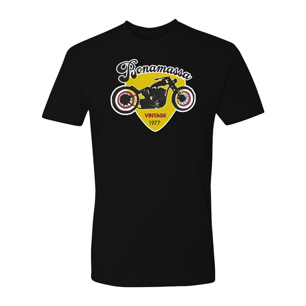Vintage Bona-Chopper T-Shirt (Unisex) - Black