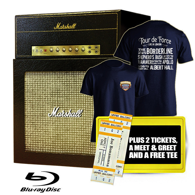 Tour de Force Ultimate Fan Box Set with all 4 Blu-rays + 2 tickets +Free T Shirt