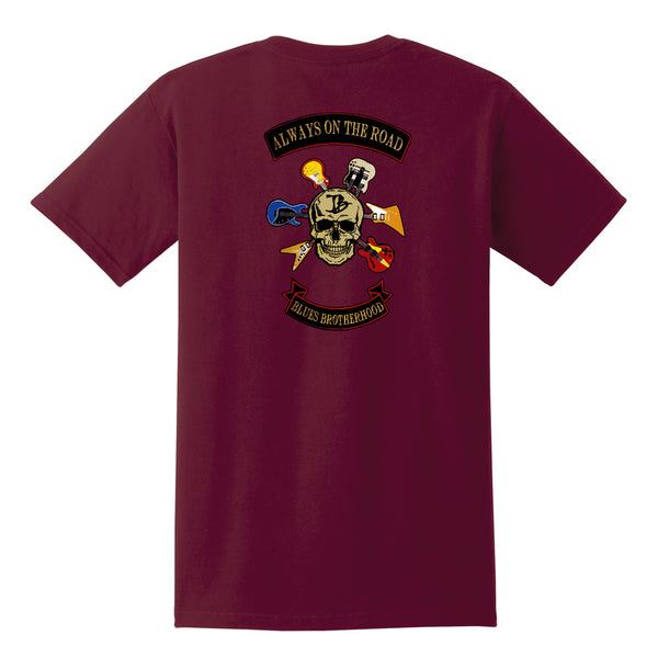 Blues Brotherhood Pocket T-Shirt (Unisex) - Maroon