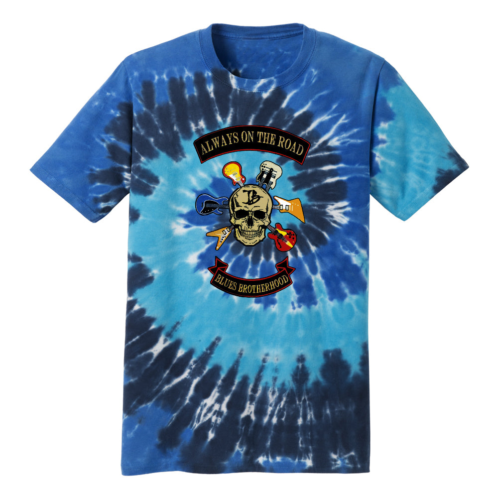 Blues Brotherhood Tie Dye T-Shirt (Unisex) - Ocean