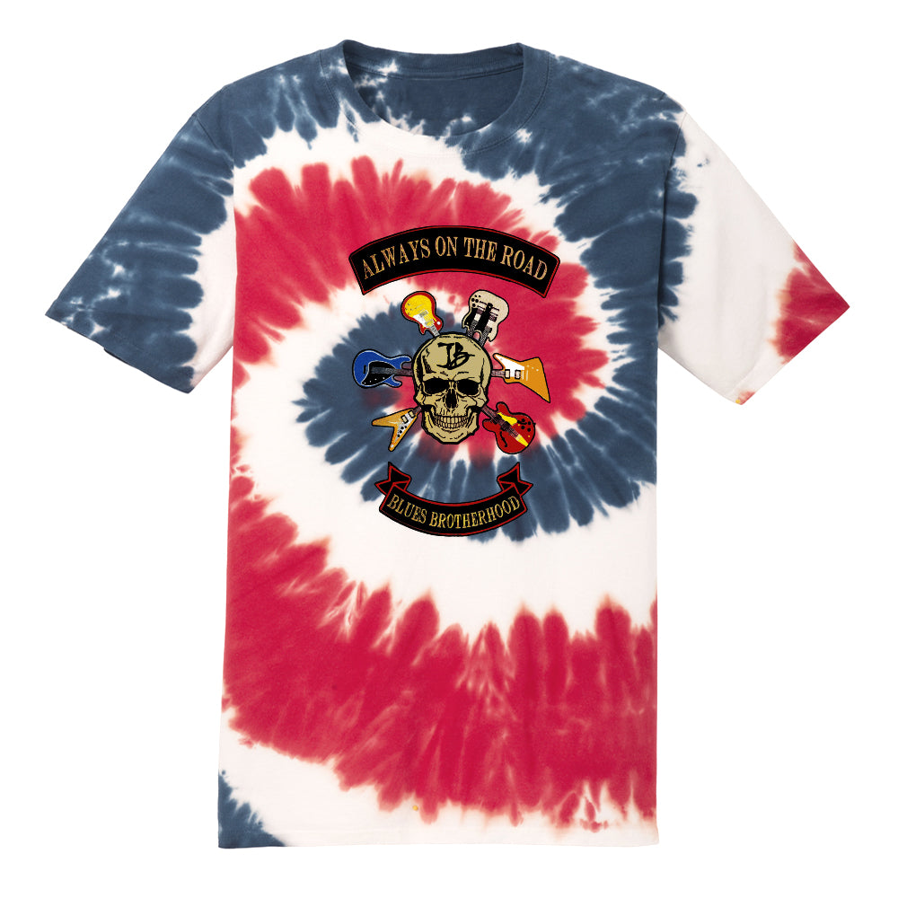 Blues Brotherhood Tie Dye T-Shirt (Unisex) - Red/White/Blue