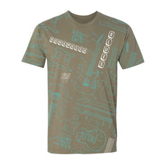 Built to Rock T-Shirt (Unisex) - Teal/Light Olive
