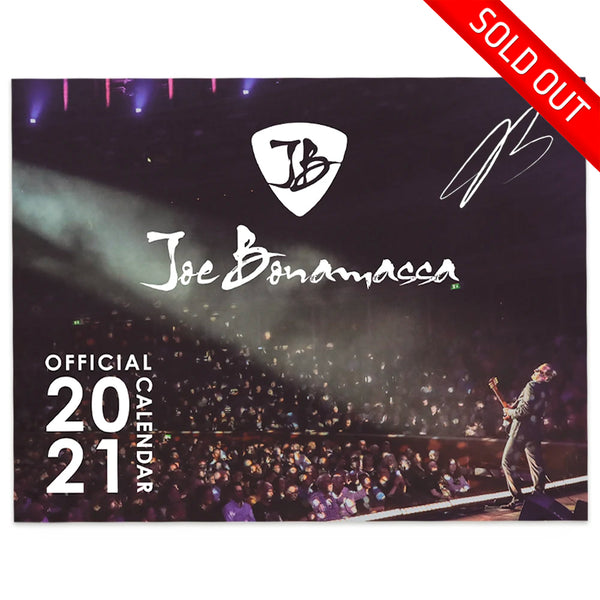 2021 Joe Bonamassa Calendar - Hand-Signed (Limited Edition 100 pieces)