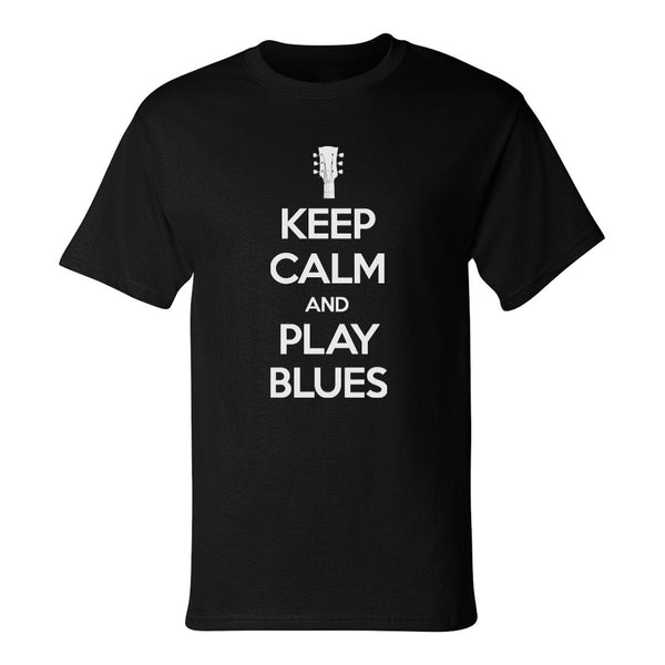 Keep Calm and Play Blues Champion T-Shirt (Unisex) - Black