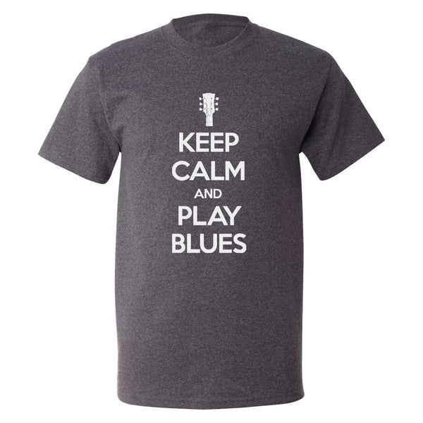 Keep Calm and Play Blues Champion T-Shirt (Unisex) - Charcoal